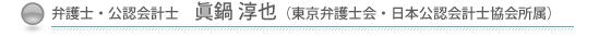 弁護士・公認会計士 眞鍋淳也(東京弁護士会・日本公認会計士協会所属)
